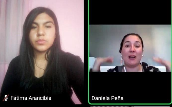Párvulos de Santa María se toman plataformas virtuales para reencontrarse y conversar con sus pares